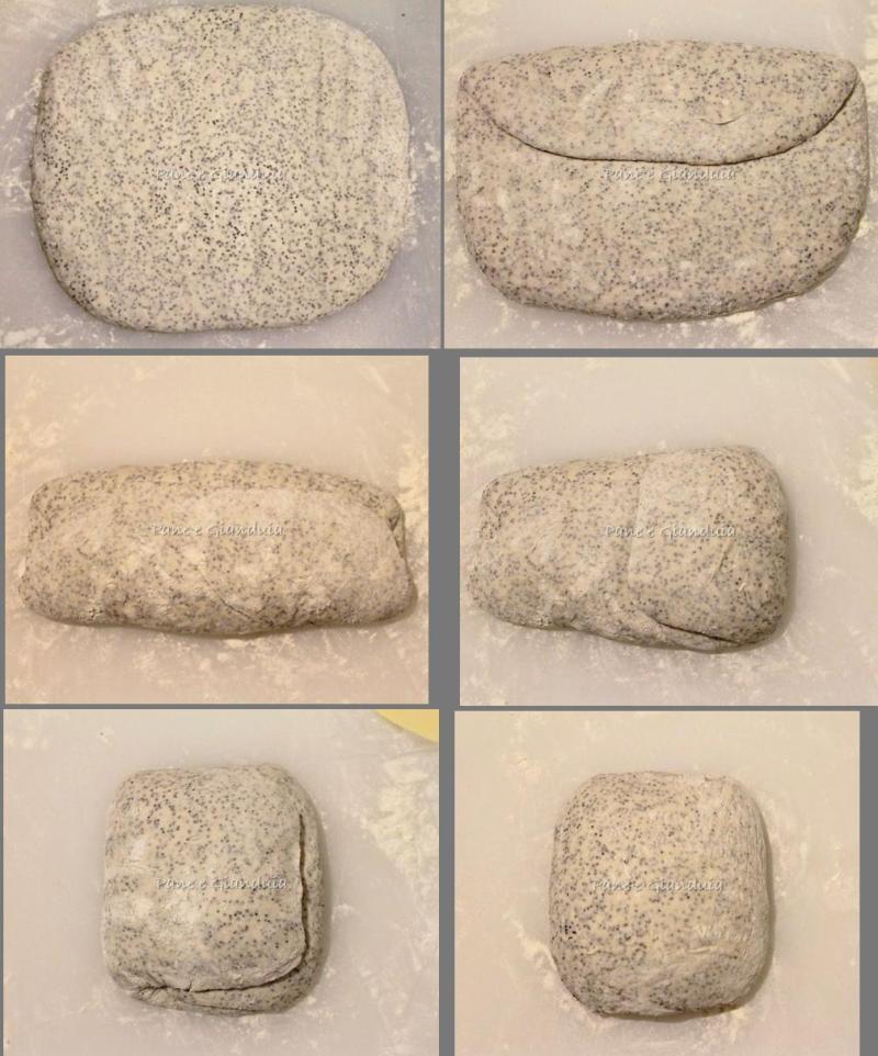 Pieghe pane al papavero
