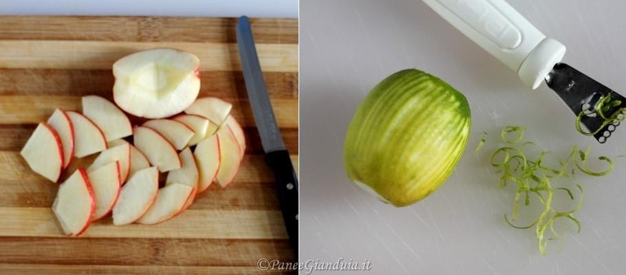 Ingredienti Insalata con mele, rucola e noci